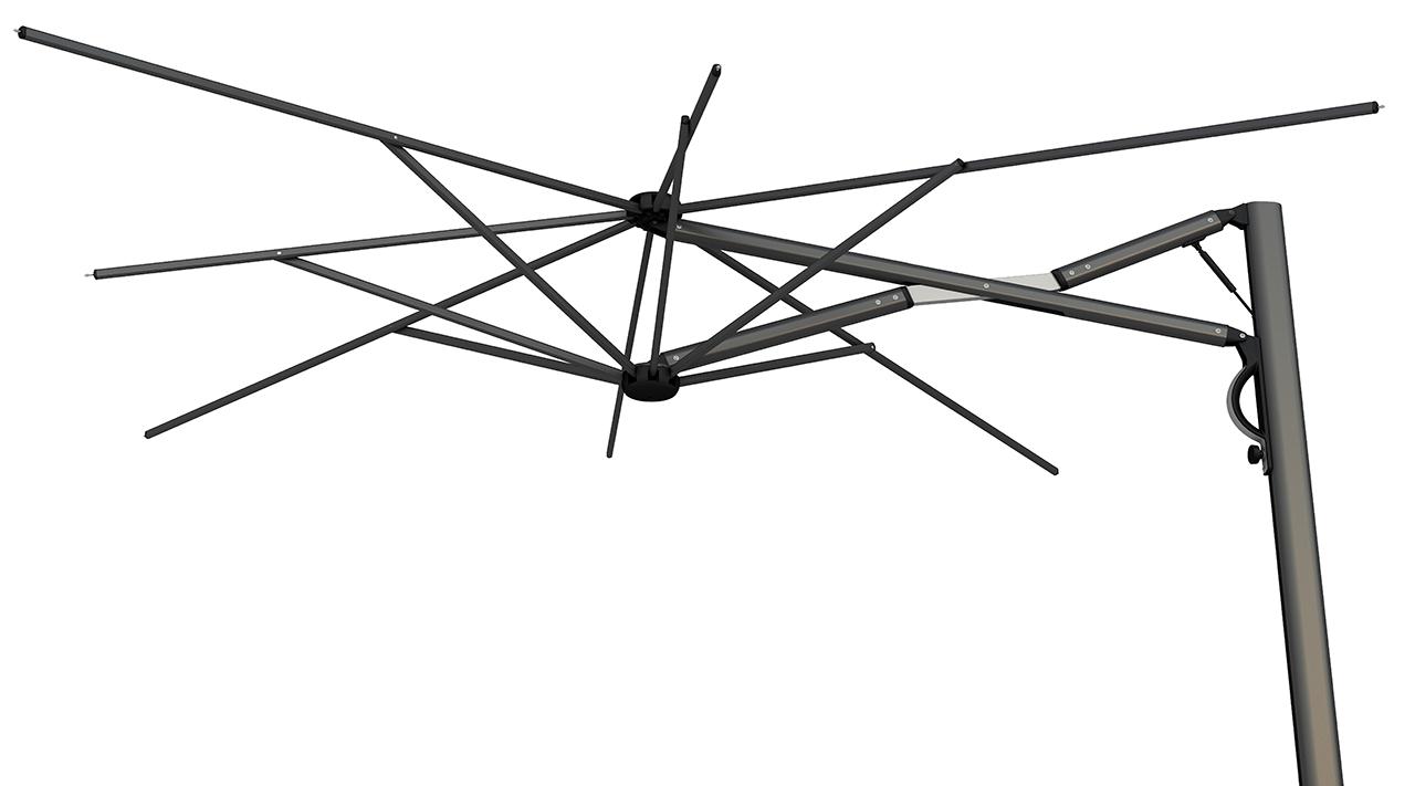 Parasol aluminium blanc Astro SCOLARO