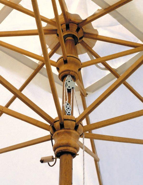 Parasol bois carré 4x4m Palladio Telescopic SCOLARO