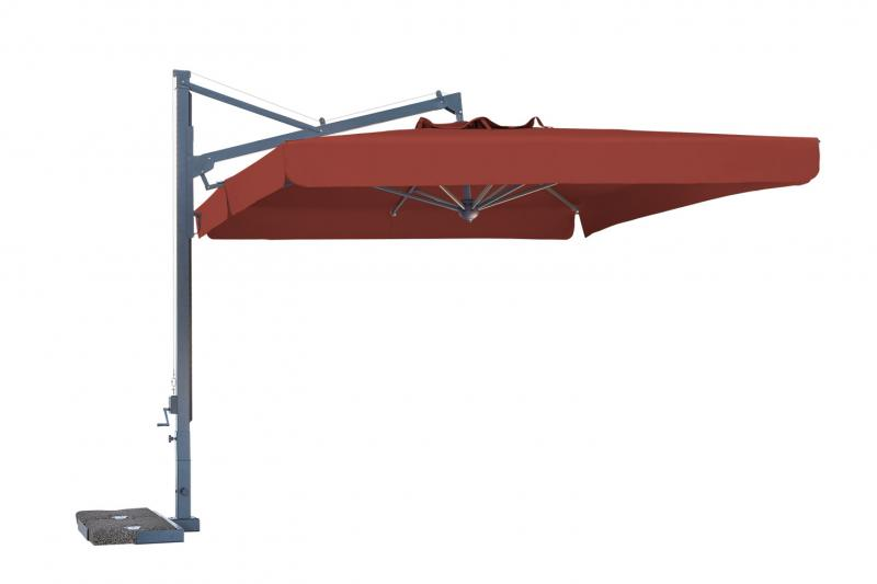 Rectangular cantilever parasol 3x4m Galileo Dark SCOLARO