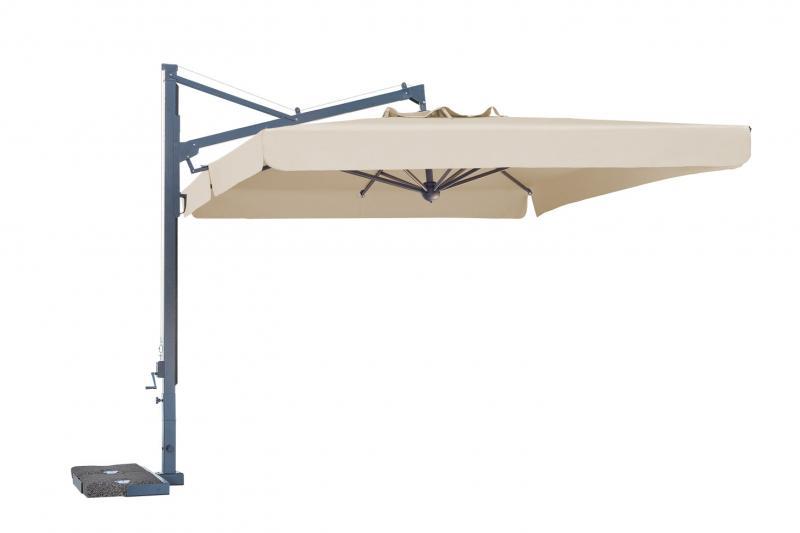 Cantilever pool parasol Galileo Dark SCOLARO