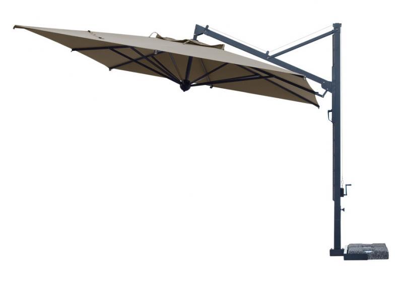 Cantilever parasol restaurant Galileo Dark SCOLARO