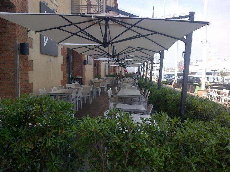 Offset parasol 3.5x3.5m Galileo Dark SCOLARO