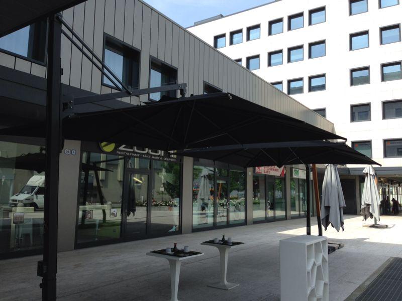 Cantilever parasol for garden Galileo Dark SCOLARO