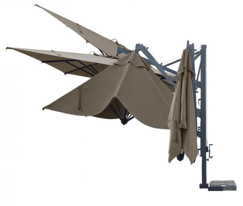 Quality cantilever parasol Galileo Dark SCOLARO
