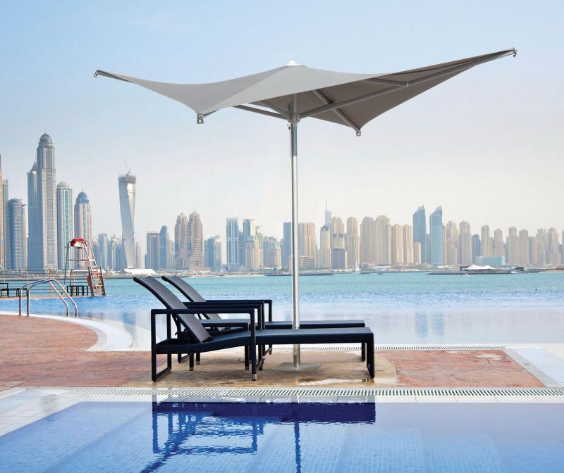 Parasol 3x3m pour terrasse maison design Vela SCOLARO