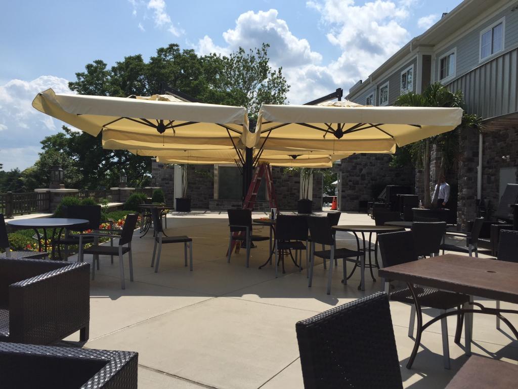 Quadruple sunshade for restaurant Alu Poker Scolaro SCOLARO