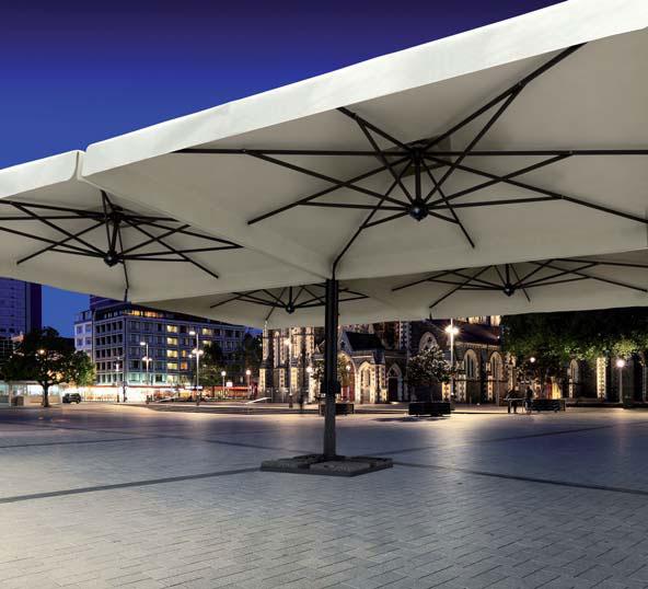Cantilever umbrella Square 6x6m Alu Poker Scolaro SCOLARO