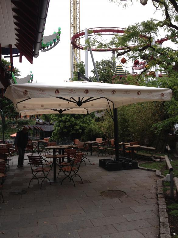 Aluminium parasol with acrylic fabric Alu Poker Scolaro SCOLARO