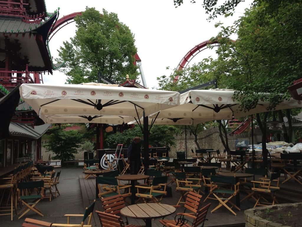 Sunshade 1 pole 4 parasols for terrace Alu Poker Scolaro SCOLARO