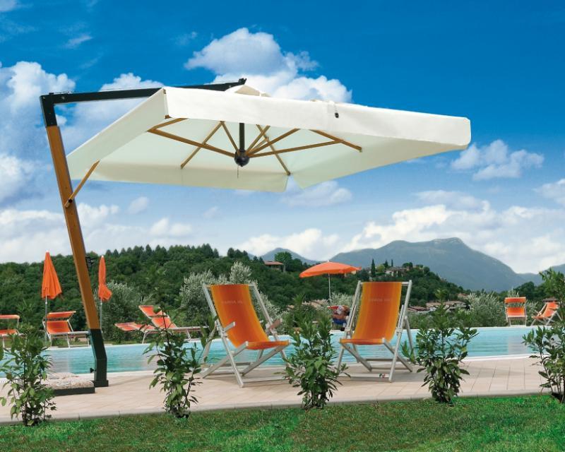 Offset parasol 3.5x3.5m Palladio Braccio SCOLARO