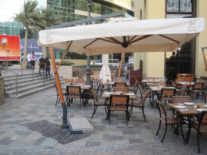 Rectangular cantilever parasol 3x4m Palladio Braccio SCOLARO