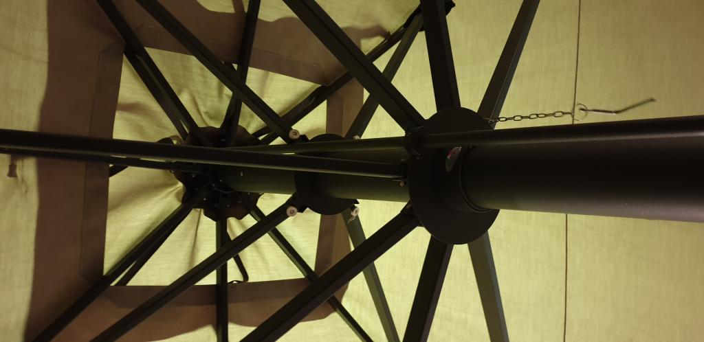 Professional patio parasol Capri Dark or Starwhite SCOLARO