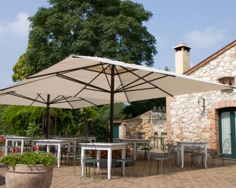 Giant parasol 500x500cm Capri Dark or Starwhite SCOLARO