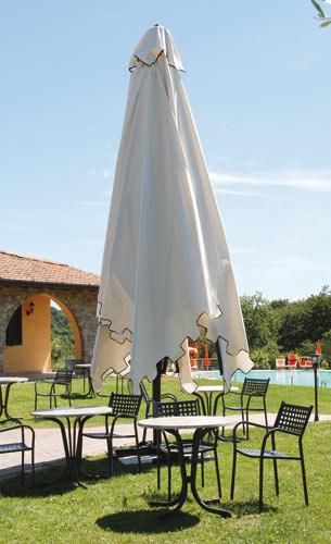 4x4m white or black aluminum parasol Capri Dark or Starwhite SCOLARO