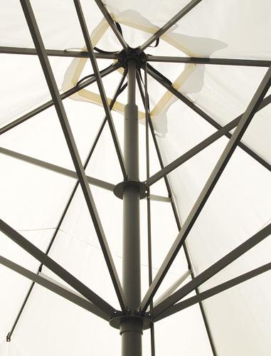 Upscale restaurant umbrella Capri Dark or Starwhite SCOLARO