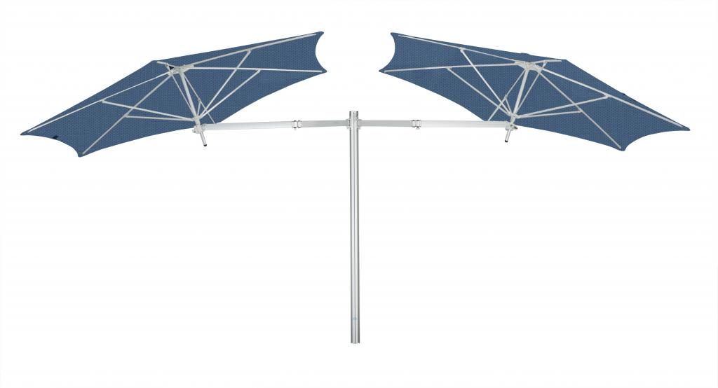 Parasol 1 mât et 4 parasols (4 bras 2m + 4 armatures + 4 toiles) Paraflex Evolution UMBROSA